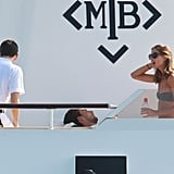 Olivia Palermo relaxed in the sun.