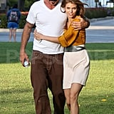 AnnaLynne McCord and Dominic Purcell showing PDA.
