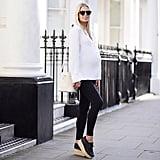 A Loose Shirt, Leggings, and Platforms