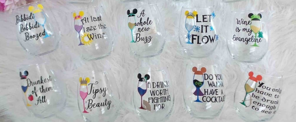 Disney Princess Stemless Wine Glasses