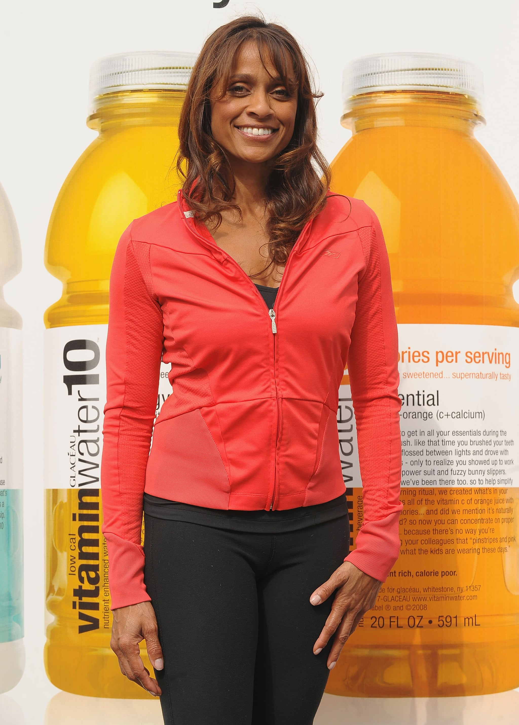 Fitness trainer Ramona Braganza attends the low calorie Vitaminwater10 launch at Vitaminwater10 Gym on April 2, 2009 in New York City. (Photo by Dimitrios Kambouris/WireImage)