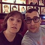 "Lena wished Jack, her ""partner/favorite face,"" a happy 30th birthday in this photo."