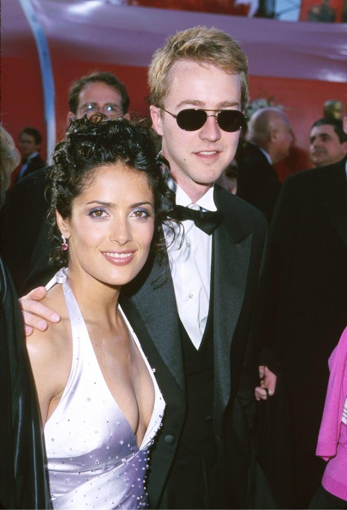 Salma Hayek and Edward Norton in 1999