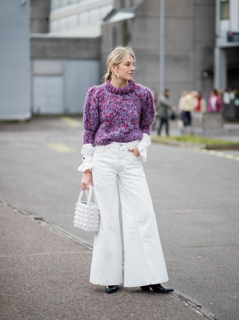 White jeans were made for pairing with bright knits