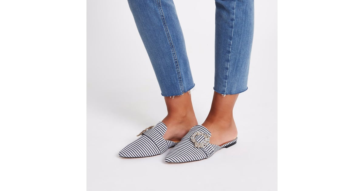 f0554325264 River Island Wide Fit Backless Loafer