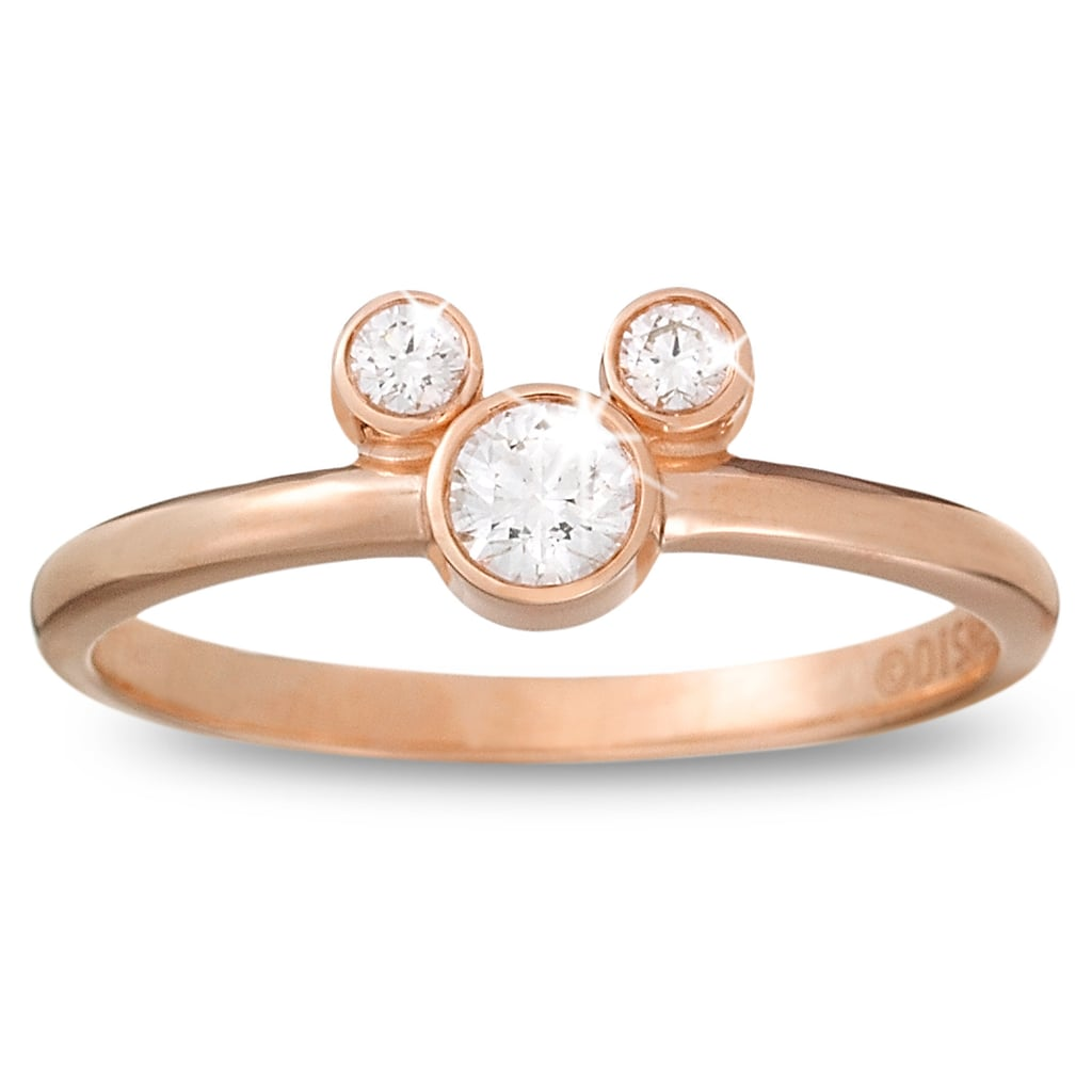 Rose Gold Mickey Mouse Ring Disney Fashion Gifts