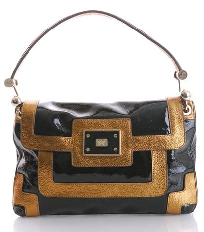 Guess Who Designed This Colorblock Patent Bag
