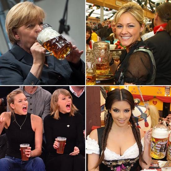 Die Stars trinken Bier