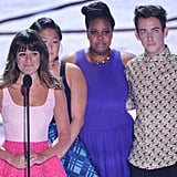 In 2013, Lea Michele took the stage with her Glee costars and dedicated her win to the late Cory Monteith.