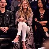Gigi wearing her ecru canvas Nudist sandals.