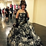 A ball gown constructed entirely out of toy cats? Totally normal at CatCon.