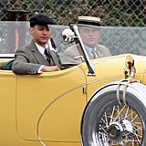 Leonardo DiCaprio and Tobey Maguire filming The Great Gatsby in Sydney.