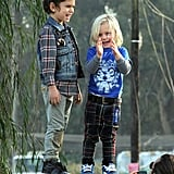 Zuma Rossdale played with his big brother Kingston Rossdale.