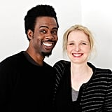 Chris Rock and Julie Delpy showed off their pearly whites while promoting their film 2 Days in New York.