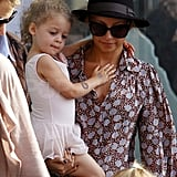 Nicole Richie and Harlow at ballet class.
