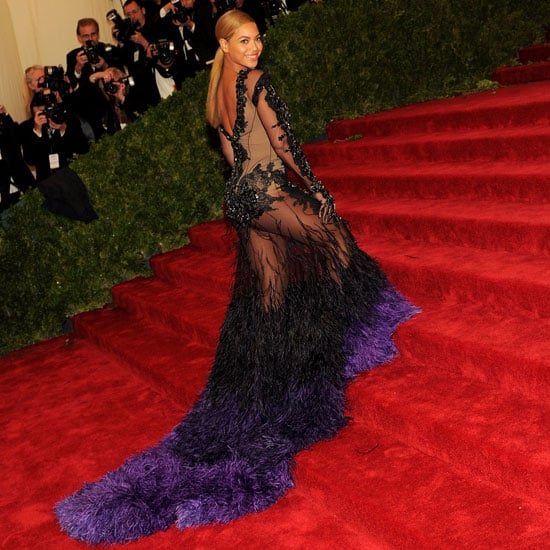 Feathered Frocks on the 2012 Met Gala Red Carpet: See Celebrities Wearing the Trend inc. Beyonce, Cate Blanchett + more!
