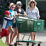 Reese Witherspoon, Ava Phillippe, and Deacon Phillippe stocked up on groceries.