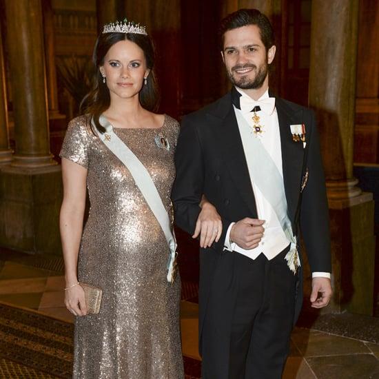 Princess Sofia Wearing a Gold Sequin Dress