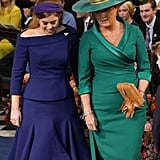 Sarah Ferguson Dress at Princess Eugenie's Wedding 2018