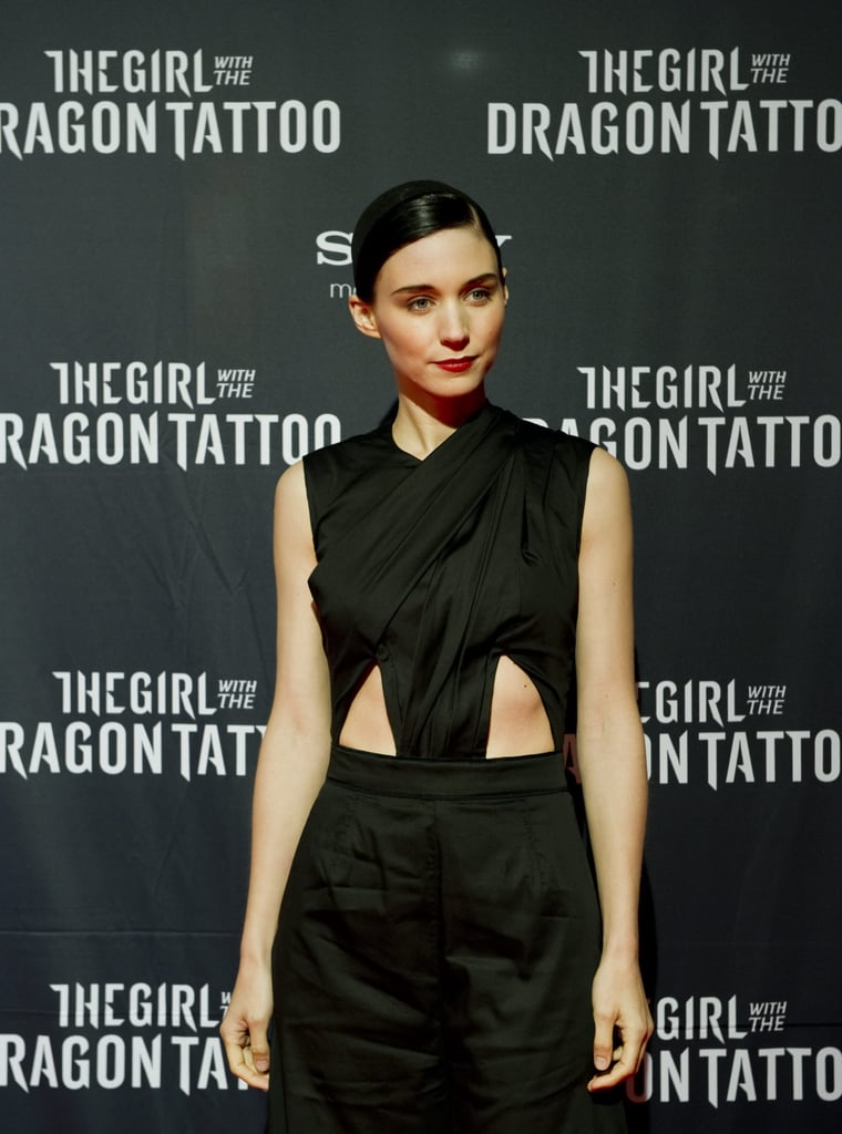 Rooney Mara wore a sexy cutout dress at the Swedish premiere of The Girl With the Dragon Tattoo.