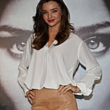 Miranda Kerr wore neutral colors.