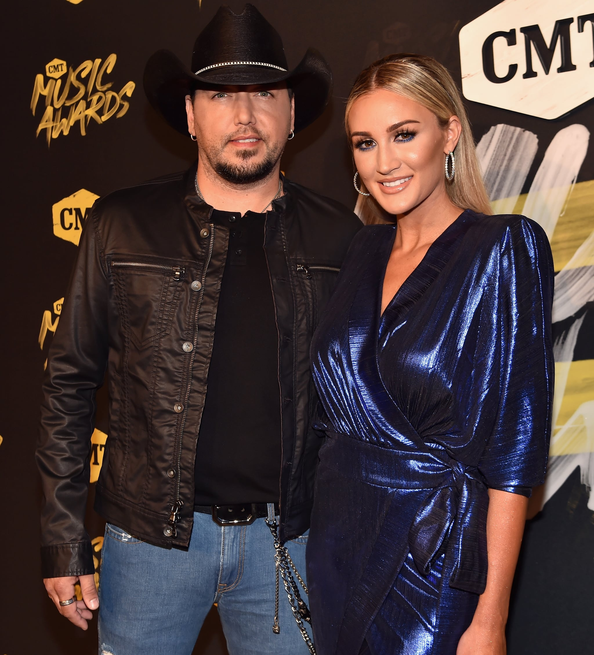 NASHVILLE, TN - JUNE 06:  Jason Aldean and Brittany Kerr attend the 2018 CMT Music Awards at Nashville Municipal Auditorium on June 6, 2018 in Nashville, Tennessee.  (Photo by Jeff Kravitz/FilmMagic)