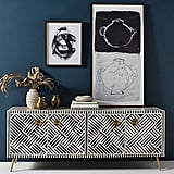 Anthropologie Optical Inlay Media Console