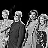 Nina Garcia posed for Project Runway with Heidi Klum, Michael Kors, and Jennifer Hudson. Source: Twitter user ninagarcia