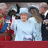 Pictured: Prince Charles, Queen Elizabeth II, and Prince Philip.