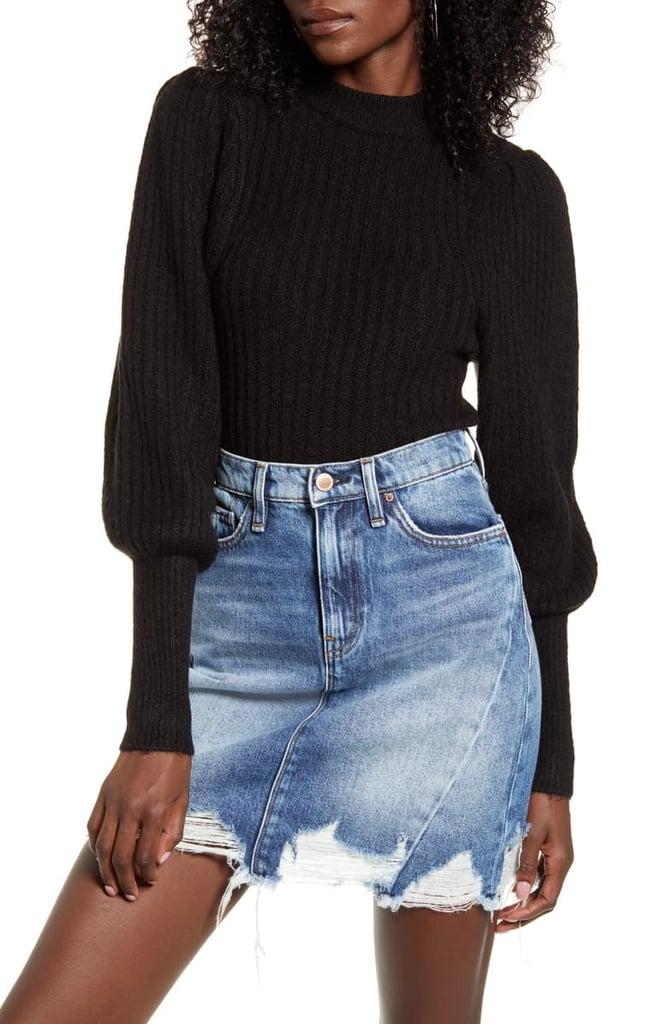 Leith Juliet Sleeve Sweater