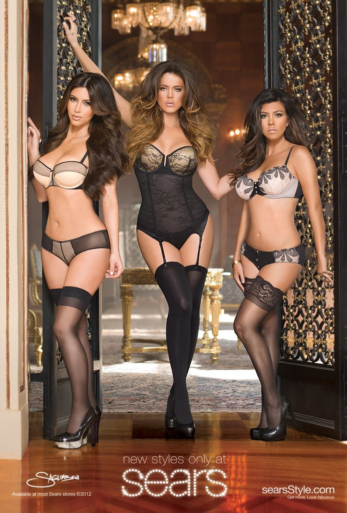 So you'd rather dress like Kim, Khloé, and Kourtney? You can go to Sears. The trio's Kardashian Kollection includes short shorts, dresses, and much more.