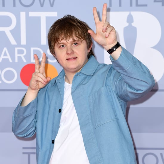 Lewis Capaldi Posing on the 2020 BRIT Awards Red Carpet