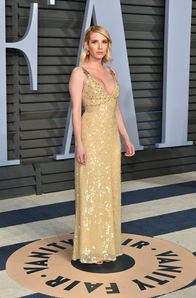 Emma Roberts Prada Dress at Oscars Afterparty 2018