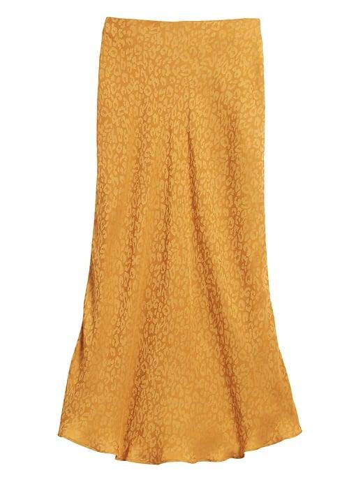 Leopard Midi Slip Skirt
