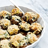 Spinach-Artichoke-Dip-Stuffed Mushrooms
