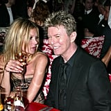 Kate Moss With David Bowie and Iman at the 2005 CFDA Awards