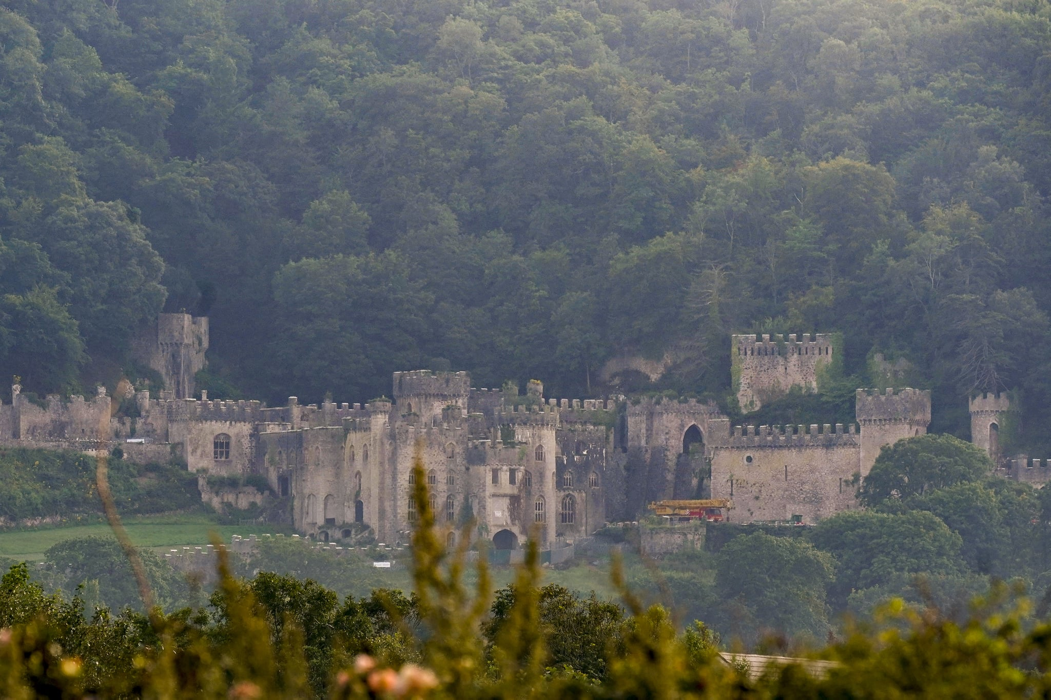 ABERGELE, WALES - AUGUST 14:  A general view of Castell Gwyrch on August 14, 2020 in Abergele, Wales. Gwyrch Castle rumoured to be the set of this year's ITV reality TV show