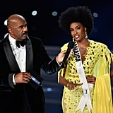 Miss Jamaica Davina Bennett Wears Afro at Miss Universe 2017