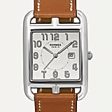 HERMÈS TIMEPIECES Cape Cod 29mm Large Stainless Steel and Leather Watch ($4,100)