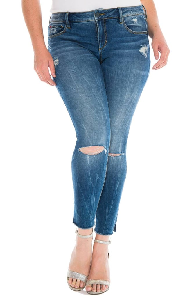 Slinked Jeans Ripped Crop Skinny Jeans