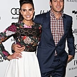 Armie Hammer and his wife Elizabeth Chambers posed together on their way into the Reel Stories, Real Lives benefit in LA.