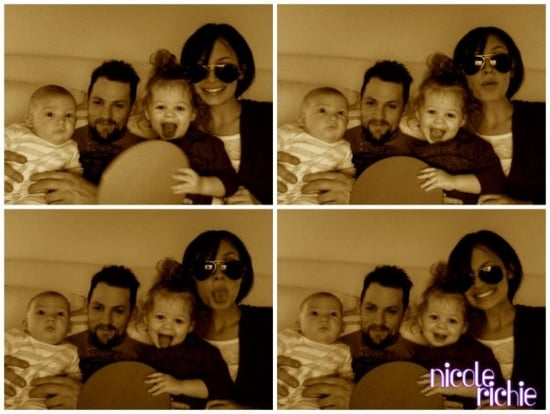 Nicole Richie shares goofy family photos