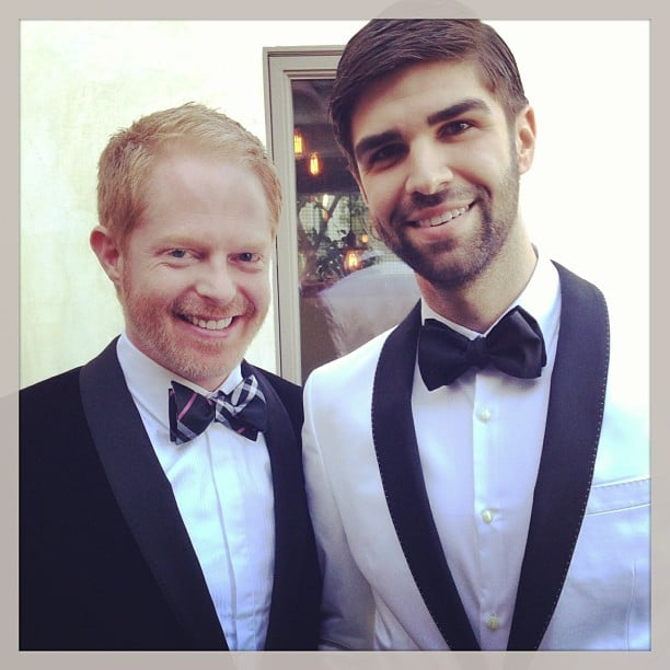 Modern Family's Jesse Tyler Ferguson was all suited up with his partner, Justin Mikita. Source: Instagram user jessetyler