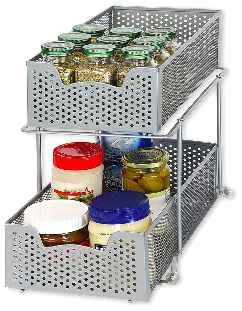 Simple Houseware 2-Tier Sliding Cabinet Basket