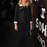 Another classic Chanel demo: Claire Danes in a white-trimmed, black Chanel jacket.