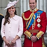 The Duke and Duchess of Cambridge were all smiles during the Trooping of the Colour in 2013.
