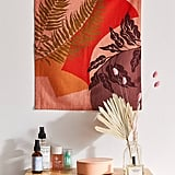 Colorblock Plant Flag Tapestry
