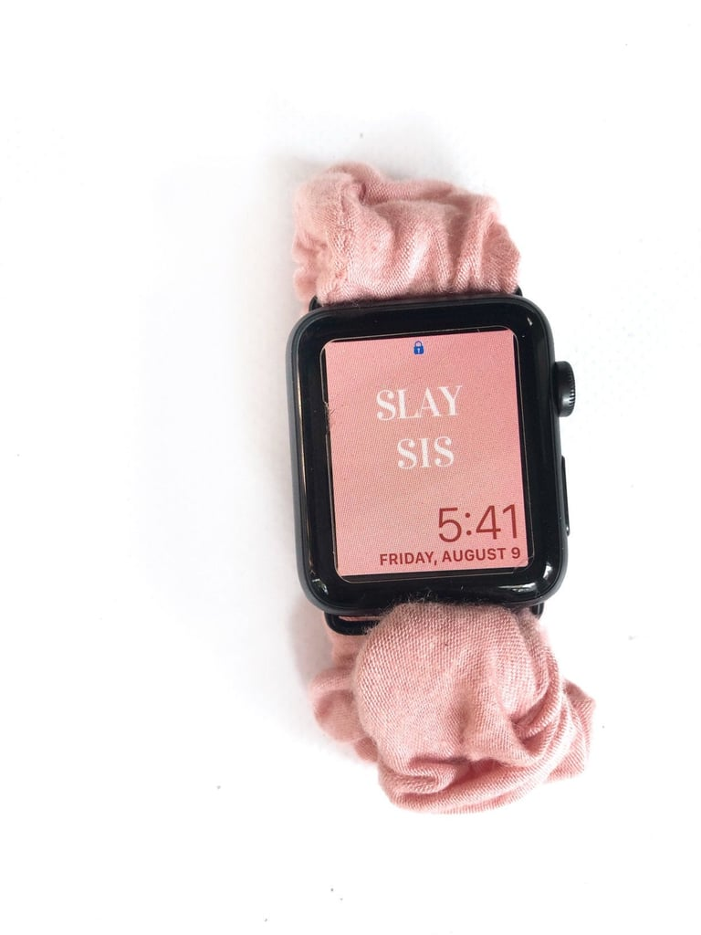 Baby Pink Scrunchie Watch Band