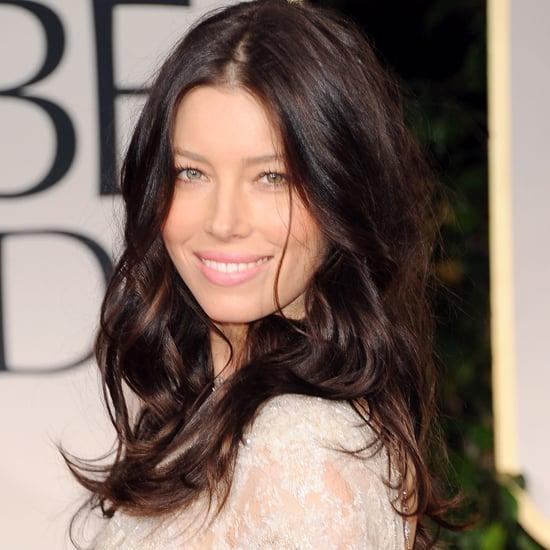 Jessica Biel's 2012 Golden Globes Hair and Makeup Look
