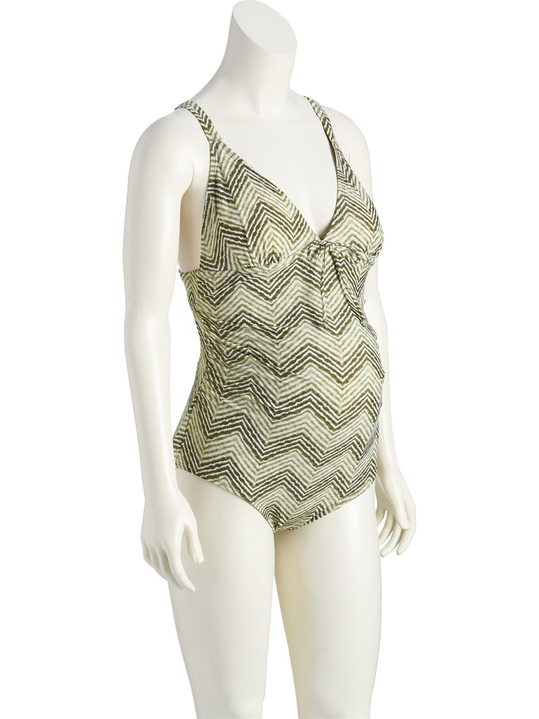 Old Navy Shirred Center-Tie Swimsuit